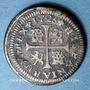 Coins Espagne. Philippe V (1700-1746). 1/2 réal 1726J. Séville
