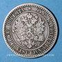 Coins Finlande. Alexandre II (1855-1881). 1 markkaa 1865