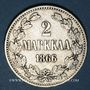 Coins Finlande. Nicolas II (1894-1917). 2 markkaa 1866 S
