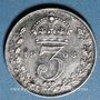 Coins Grande Bretagne. Edouard VII (1901-1910). 3 pence 1908