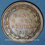 Coins Grande Bretagne. Georges III (1760-1820) - Banque d'Angleterre. 3 shilling 1812. Copie d'époque