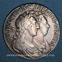 Coins Grande Bretagne. Guillaume et Marie (1688-1694). 1/2 couronne 1689