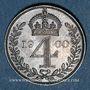 Coins Grande Bretagne. Victoria (1837-1901). 4 pence 1900