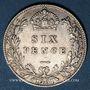 Coins Grande Bretagne. Victoria (1837-1901). 6 pence 1901