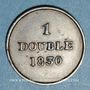 Coins Guernesey. Guillaume IV (1830-1837). 1 double 1830