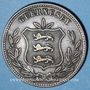 Coins Guernesey. Victoria (1837-1901). 8 doubles 1874