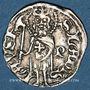 Coins Hongrie. Louis I (1342-1382). Denier