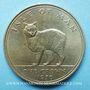 Coins Ile de Man. Elisabeth II (1952- ). 1 couronne 1970. Chat manx
