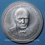 Coins Ile de Man. Elisabeth II (1952- ). 1 couronne 1974. W. Churchill