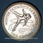 Coins Ile de Man. Elisabeth II (1952- ). 1 couronne 1984. J.O. d'hiver - patineurs