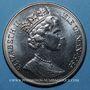 Coins Ile de Man. Elisabeth II (1952- ). 1 couronne 1985. La reine mère avec Elisabeth et Margareth