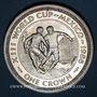 Coins Ile de Man. Elisabeth II (1952- ). 1 couronne 1986. Championnat du monde de football - Mexico