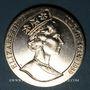 Coins Ile de Man. Elisabeth II (1952- ). 1 couronne 1989. Visite royale