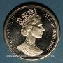 Coins Ile de Man. Elisabeth II (1952- ). 1 couronne 1990. Coupe du Monde de football en Italie - Bologne