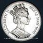 Coins Ile de Man. Elisabeth II (1952- ). 1 couronne 1990. Coupe du Monde en Italie - Bologne