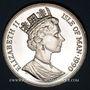 Coins Ile de Man. Elisabeth II (1952- ). 1 couronne 1990. La reine mère avec Elisabeth et Margareth