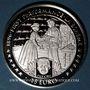 Coins Ile de Man. Elisabeth II (1952- ). 15 euro 1996 argent. 1ère représentation de La Bohème de Puccini