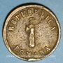 Coins Italie. Ancône. 2e république (1848-1849). 1 baiocco 1849A