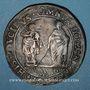 Coins Italie. Casale assiégée par les espagnols. 20 florins 1630. Bronze. R ! R !
