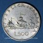 Coins Italie. République (1946- /). 500 lires 1960