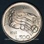 Coins Italie. République (1946- /). 500 lires 1961