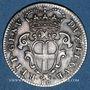 Coins Italie. République de Gênes. 10 soldi 1671