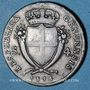 Coins Italie. République de Gênes (1814). 4 soldi 1814
