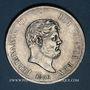 Coins Italie. Royaume de Naples et Deux Siciles. Ferdinand II (1830-1859). 120 grana ou piastre 1856