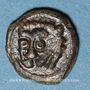Coins Italie. Sicile. Les Normands. Guillaume II (1166-1189). Fraction de follaro. Messine