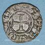 Coins Italie. Sicile. Les Suèves. Henri VI (1194-1197) et Constance. Denier