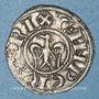 Coins Italie. Sicile. Les Suèves. Henri VI (1194-97) et Constance. Denier