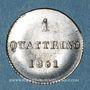 Coins Italie. Toscane. Léopold II (1824-1859). 1 quattrino 1851. Florence