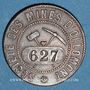Coins Italie. Valpelline. Société des Mines d'Ollomont. Fonderines de la Valpelline. 10 centimes 1868