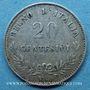 Coins Italie. Victor Emmanuel II (1861-1878). 20 centésimi 1863BN. Milan