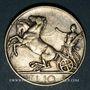 Coins Italie. Victor Emmanuel III (1900-1946). 10 lires 1927R. Rome