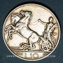 Coins Italie. Victor Emmanuel III (1900-1946). 10 lires 1928R. Rome