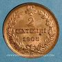 Coins Italie. Victor-Emmanuel III (1900-1946). 2 centesimi 1908 R. Rome