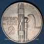 Coins Italie. Victor Emmanuel III (1900-1946). 2 lires 1925R. Rome