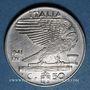 Coins Italie. Victor-Emmanuel III (1900-1946). 50 centesimi 1941R, XIX