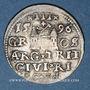 Coins Lettonie. Riga. Sigismond III Vasa (1587-1632). Triple gros de kiga 1596