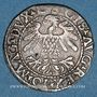 Coins Lituanie. Grand Duché. Sigismond III Auguste (1544-1572). 1/2 gros 1559. Vilnius