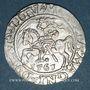 Coins Lituanie. Grand Duché. Sigismond III Auguste (1544-1572). 1/2 gros 1561