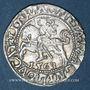 Coins Lituanie. Grand Duché. Sigismond III Auguste (1544-1572). 1/2 gros 1563. Différent : hache