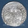 Coins Lituanie. Grand Duché. Sigismond III Auguste (1544-1572). 1/2 gros 1564. Différent : hache. R! R! R!