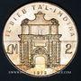 Coins Malte. République. 2 livres 1973. Porte Tal-Imdina