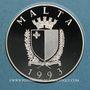 Coins Malte. République. 5 liri - 10 écus 1993. Défense de l'Europe Chrétienne.  (PTL 925‰. 25 g)