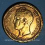 Coins Monaco. Honoré V (1819-1841). 1 décime 1838MC. Cuivre jaune