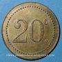 Coins Monaco. Ligue Monégasque. 20 centimes