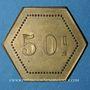 Coins Monaco. Ligue Monégasque. 50 centimes