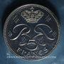 Coins Monaco. Rainier III (1949-2005). 5 francs 1974. 25e anniversaire de règne. Piéfort. Argent